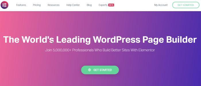 Elementor - #1 on The Best WordPress Page Builders - BigLinden